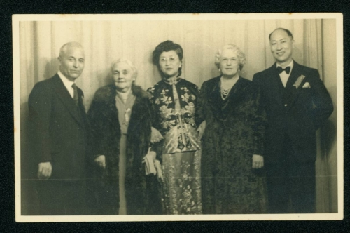 408 William-Liu,-Barbara-Stephenson,-Florence-Kwok-Sun-(Gockson),-unknown-and-Charles-Liu,-Chinese-Victory-Pageant-Ball,-3-September-1946