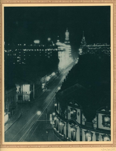 Plate-25-The-Great-White-Way---Nanking-Road-at-night